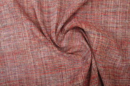 Tweed de Soie Multicolore Rouge