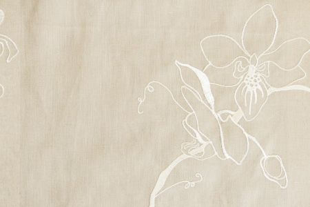 Lin Brodés Orchid F484-01 Taupe Ivory