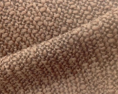Tweed Couture Grain de riz Camel