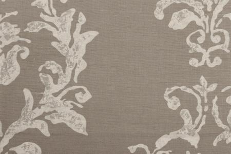 lin imprim pour ameublement tapisserie buffalo elephant gris blanc argent. Black Bedroom Furniture Sets. Home Design Ideas