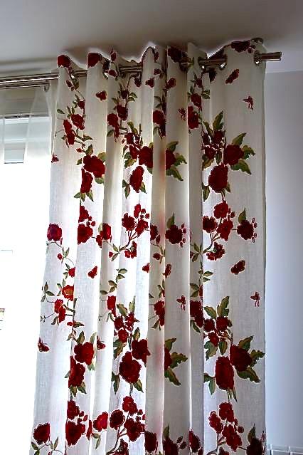Réaliser mes rideaux et doubles-rideaux en lin brodé