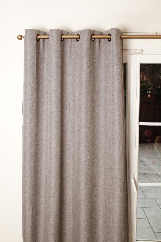 rideaux occultants pr ts poser en lin. Black Bedroom Furniture Sets. Home Design Ideas